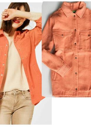 Стильна легка літня оверсайз сорочка- куртка  від німецького бренду street one