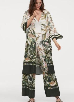 Кимано халат накидка платье h&m туника в тропический принт