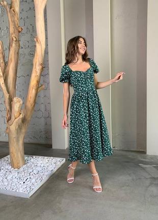 Шикарное летнее платье миди💥
