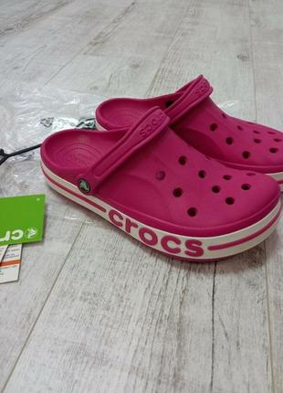 Кроксы,сабо crocs baya band pink m9w11