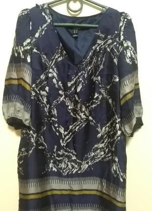 Mango. платье шелковое шёлк 100%