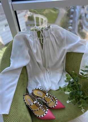 Блузка из 100%шёлка emilio pucci,оригинал!размер м.срочно