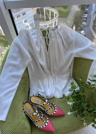 Блузка из 100%шёлка emilio pucci,оригинал!размер м🔥скидка3 фото