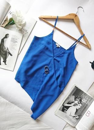 Стильна елегантна блуза/майка/топ з асиметричним драпіруванням river island, на р. xs