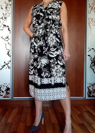 Легкое черне платье-рубашка с цветочным принтом в стиле boohoo