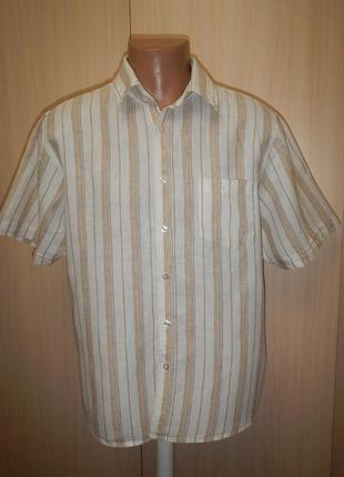 Льняная тенниска рубашка cedarwood state p.l 100% лён