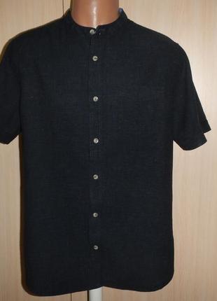 Льняная тенниска рубашка george p.l лён хлопок