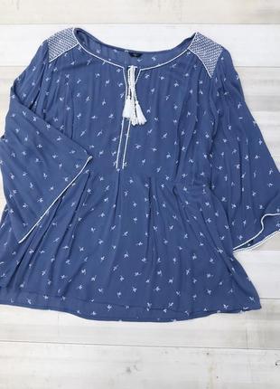 Легкая блузка в большом размере