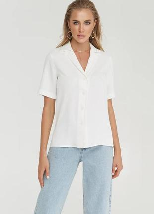 👑 легкая блуза с отложным воротником