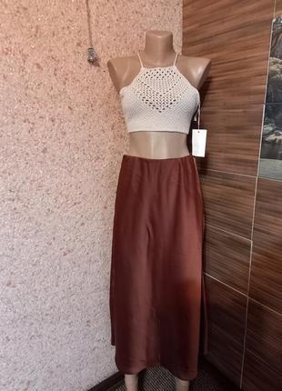 Очень красивая стильная юбка миди