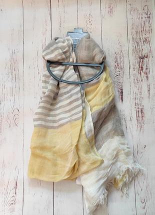 Тоненький, лёгкий льняной шарф
