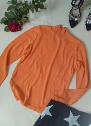 Высококачественный яркий гольф водолазка тоненький свитер меринос вип бренд