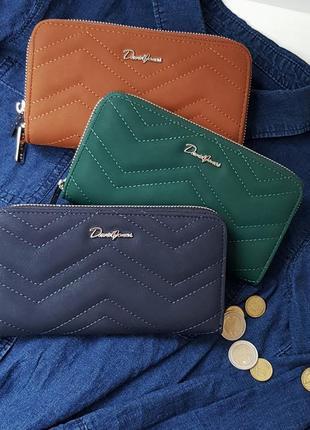 David jones кошелёк кошелек женский зеленый синий