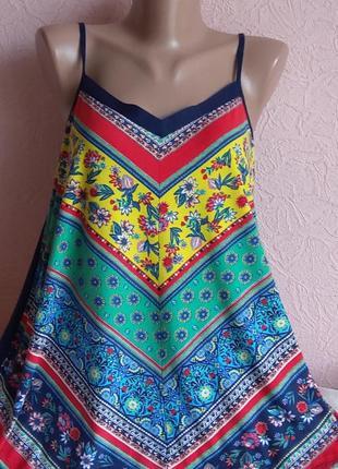 Красивая яркая майка monsoon accessorize 96 % вискоза акция 1+1 =3 на блузы , рубашки , футболки