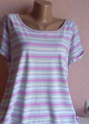 Красивая легкая футболка tu -100% хлопок акция 1+1 =3 на блузы , рубашки , футболки