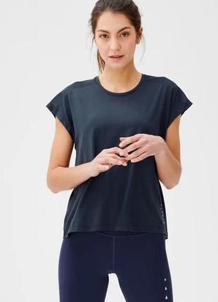 Женская спортивная футболка синяя crivit германия р. 44-46