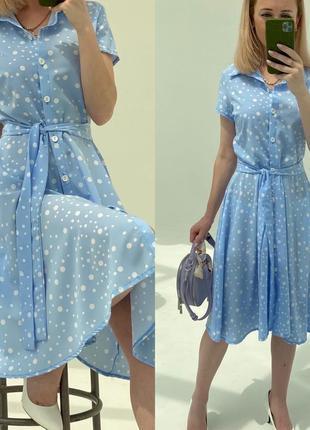 Платье халат в горошек 👌 тренд сезона 👌 7 цветов