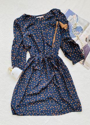 Синее платье с бантом mint & berry
