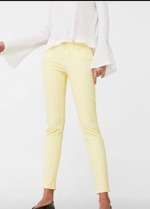 Жёлтые лимонные джинсы mango оригинал