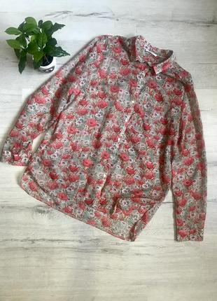 Женская блузка рубашка в маки promod разм. l