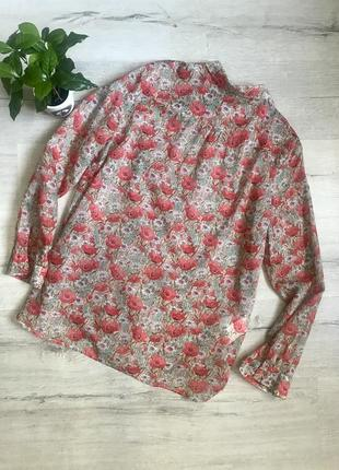 Женская блузка рубашка в маки promod разм. l2 фото