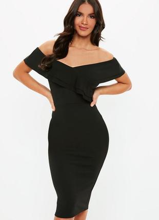 Роскошное платье с рюшами, missquided, размер 18-20