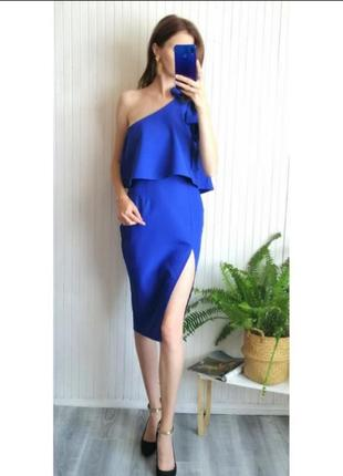 Крутое оригинальное миди платье по фигуре с разрезом нарядное вечернее сукня плаття3 фото