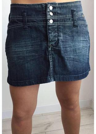 Юбка, классная мини-юбка, джинсовая юбка. спідниця джинс качественная