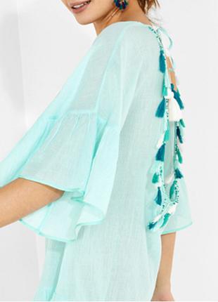 Новая туника women' secret 100% хлопок мятный цвет пляжное платье