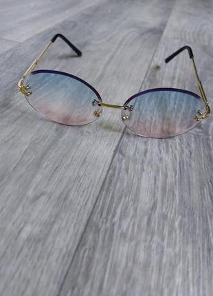 Солнцезащитные очки овал круг градиент
