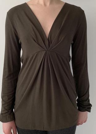 Кофта хакі, свитер хаки, от united colors of benetton стильная кофта.