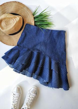 Оригинальная джинсовая юбка new look.