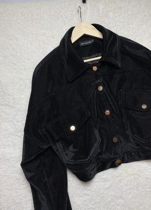 Вельветовая куртка оверсайз, укорочённая курточка вельвет