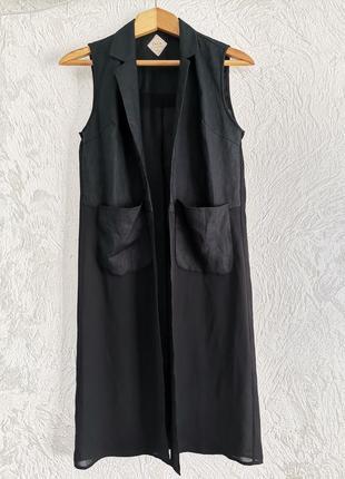 Кардиган, платье халат, накидка, безрукавка. шелк+вискоза.