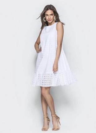 Платье оверсайз з прошвы