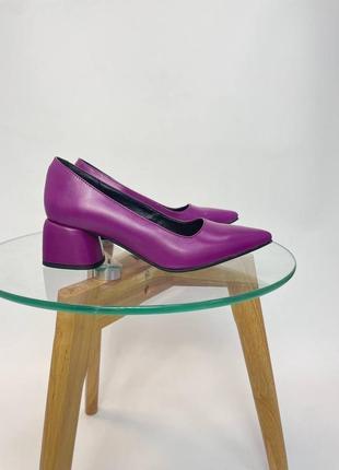 Туфли женские фуксия любой цвет натуральная кожа замша