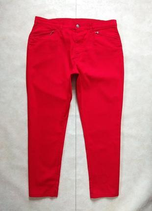 Боталы большые красные джинсы с высокой талией charles vogele, 20 размер.