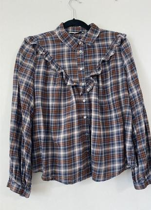 Рубашка в клетку бренд  tu. оригинал, размер  m