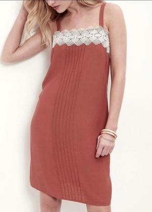 Коралловое платье  new look