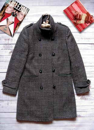 Пальто демисезонное двубортное