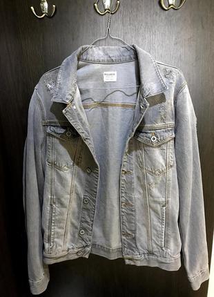 Джинсовка джинсовая куртка пиджак pull&bear