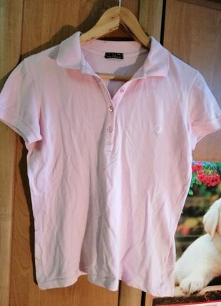 Нежное розовое поло стрейч от fred perry