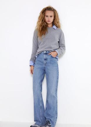 Широкие джинсы, джинсы wide leg full length zara