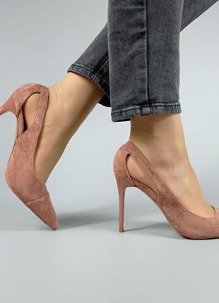 Нюдовые туфли