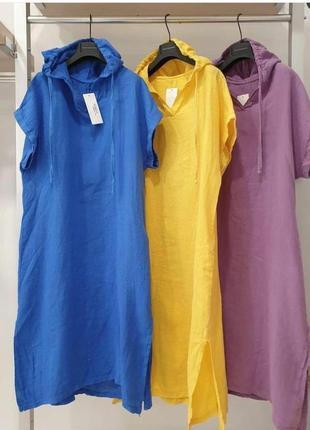 Сукня літня. змішаний льон. різні кольори. розміри від 24 до 70