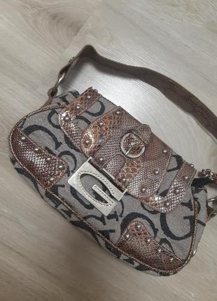 Vintage guess handbag  сумка багет оригинал
