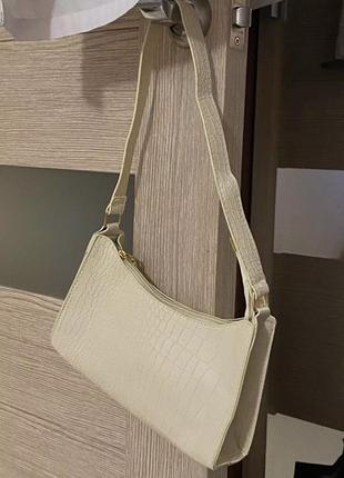 Сумка клатч сумочка багет ретро винтаж крокодил