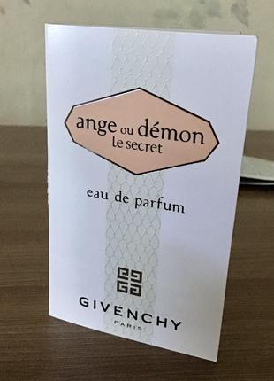 Парфюмированная вода givenchy ange ou demon, пробник