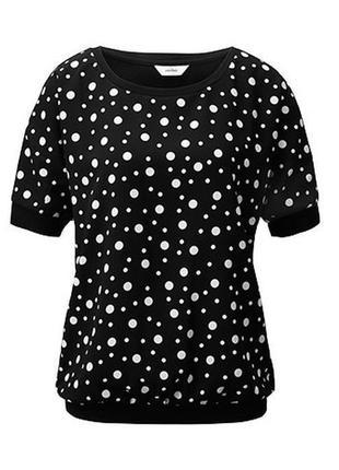 Sale 50%! блуза-футболка в горох tcm tchibo, нюанс!