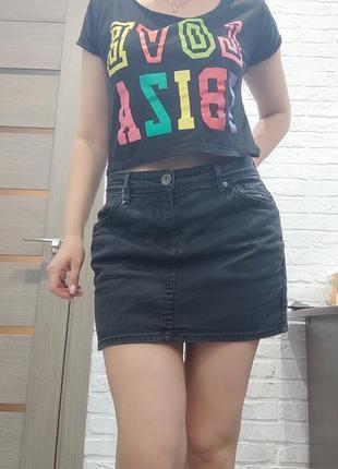 Юбка джинс l